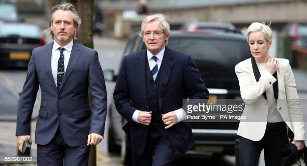 Coronation Street actor William Roache arrives at Preston Crown Court with son Linus and daughter Verity where he denies two counts of rape and five...