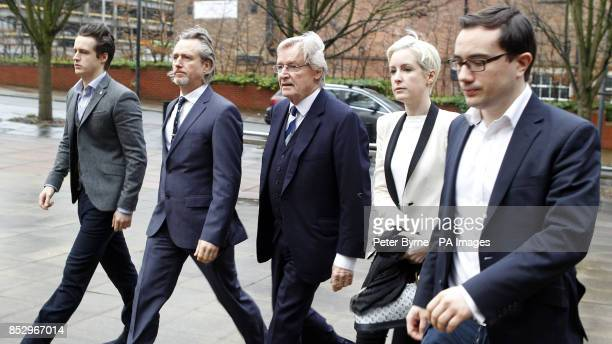 Coronation Street actor William Roache arrives at Preston Crown Court with sons James Linus and daughter Verity where he denies two counts of rape...