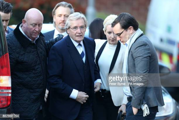 Coronation Street actor William Roache arrives at Preston Crown Court with daughter Verity and her partner Paddy where he denies two counts of raping...