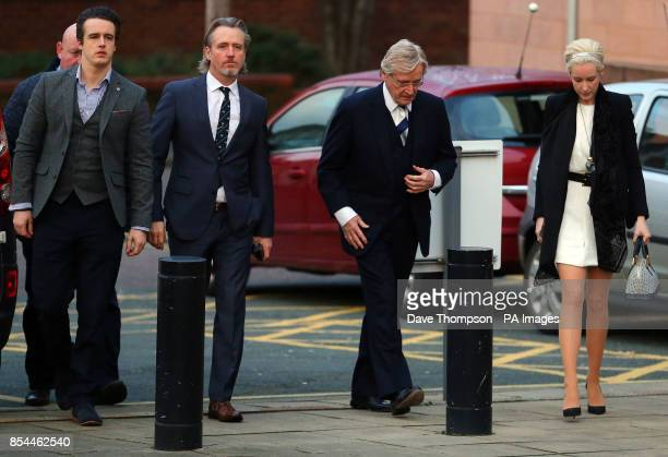 Coronation Street actor William Roache arrives at Preston Crown Court with sons James Linus and daughter Verity for the continuation of his trial