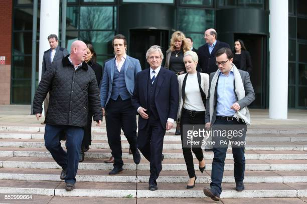 Coronation Street actor William Roache leaves Preston Crown Court with unknown security Linus Roache James Roache William Roache daughter Verity and...