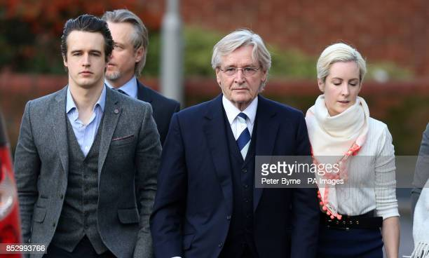 Coronation Street actor William Roache with his sons James Linus and daughter Verity arrives at Preston Crown Court where he denies two counts of...