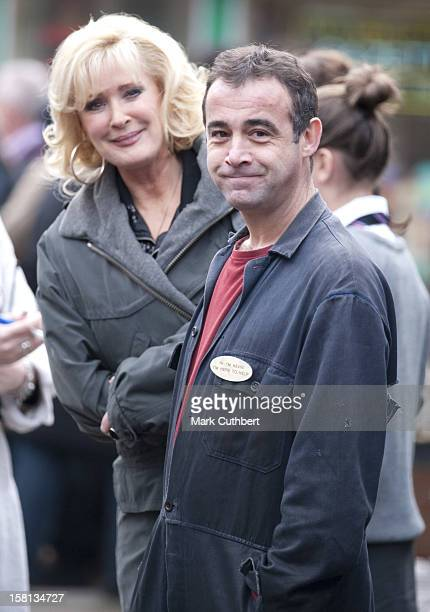 Coronation Street Actors Beverley Callard And Michael Le Vell Wait To Meet Camilla, The Duchess Of Cornwall, Outside The Rovers Return Inn At Granada...