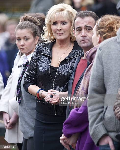 Coronation Street Actors Brooke Vincent, Beverley Callard And Michael Le Vell Wait To Meet Camilla, The Duchess Of Cornwall, Outside The Rovers...