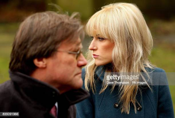 Coronation Street actors David Neilson and Katherine Kelly arrive for a memorial service for Sara Roache, the wife of Coronation Street actor Bill,...