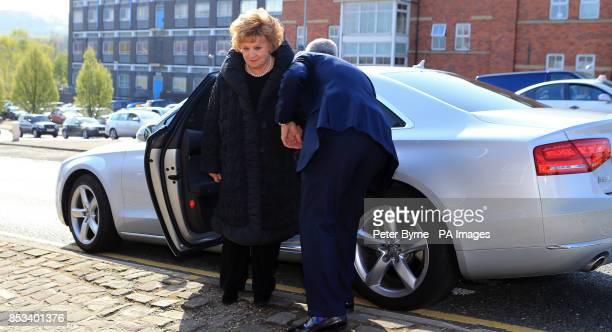 Coronation Street actress Barbara Knox arrives at Macclesfield Magistrates' Court to make her first appearance