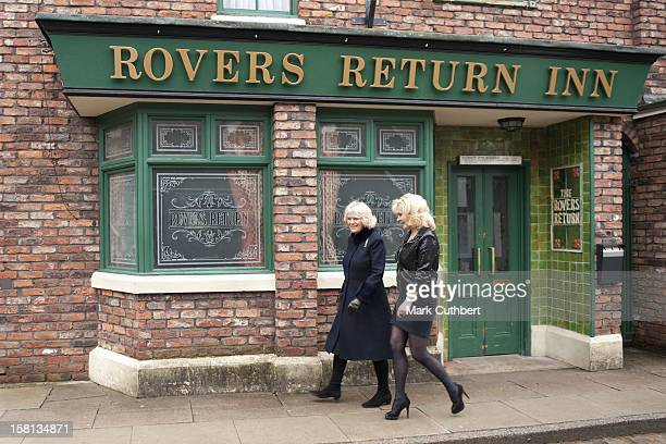 Coronation Street Actress Beverley Callard Outside The Rovers Return Inn At Granada Studios, Manchester, With Camilla, The Duchess Of Cornwall,...