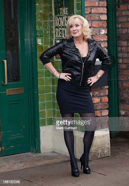 Coronation Street Actress Beverley Callard Poses Outside The Rovers Return Inn At Granada Studios, Manchester, During Camilla, The Duchess Of...