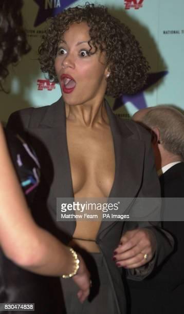 Coronation Street actress Naomi Russell shows her surprise after winning best drama at the National Television Awards 2000 at the Royal Albert Hall...