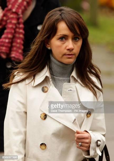 Coronation Street actress Samia Smith arrives for a memorial service for Sara Roache, the wife of Coronation Street actor Bill, at St Bartholomew's...