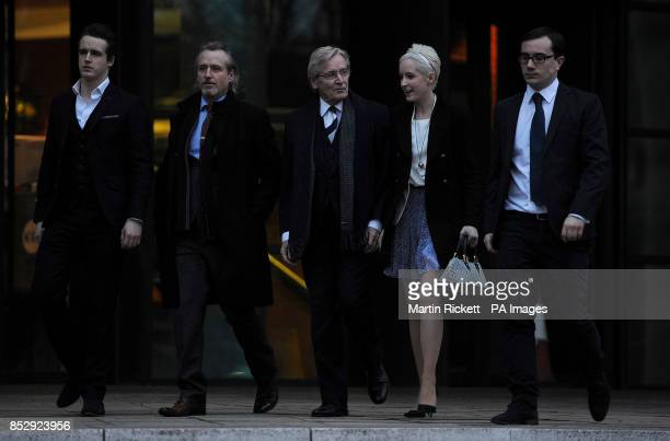 Coronation Street star Bill Roache leaves Preston Crown Court with his children James Linus and Verity