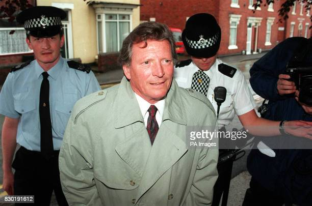 Coronation Street star Johnny Briggs arrives at Cannock Magistrates Court where he was banned from driving for 14 months and fined 1440 pounds after...