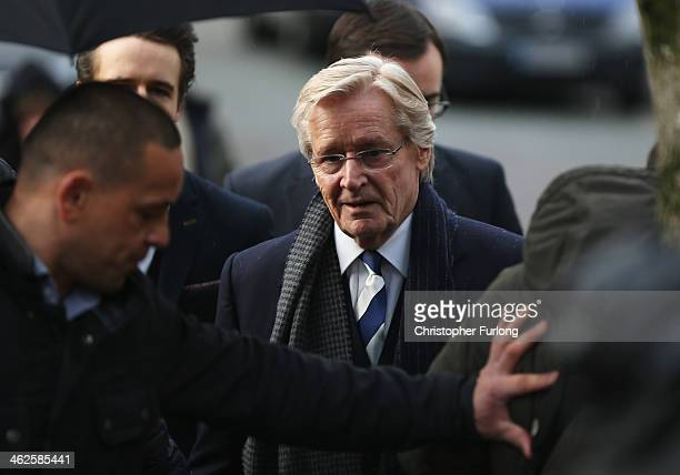 Coronation Street Star William Roache arrives at Preston Crown Court for the start of his trial of historical sexual offence allegations on January...