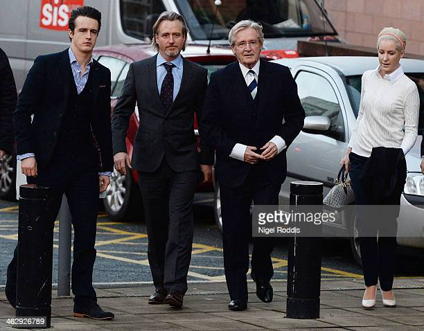 Coronation Street Star William Roache arrives at Preston Crown Court with his children James Roache Linus Roache and daughter Verity Roache for the...