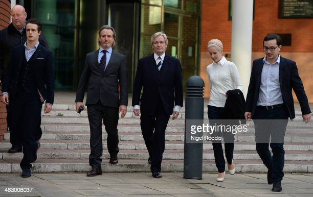 Coronation Street Star William Roache leaves Preston Crown Court with his children James Roache Linus Roache and daughter Verity Roache after the...