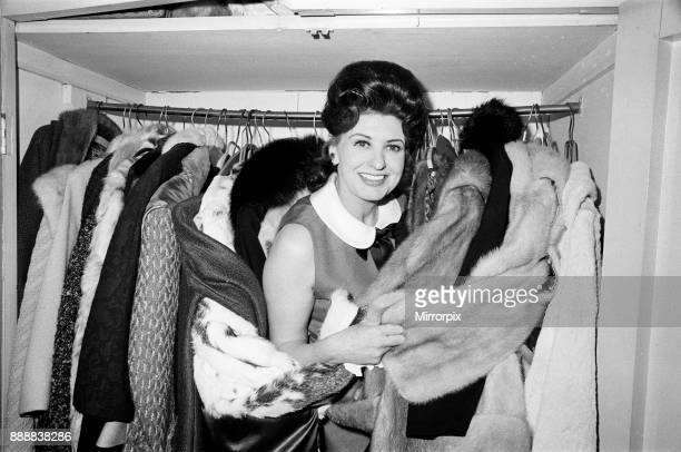 Coronation Street's Pat Phoenix at home with her mink coats 16th April 1968