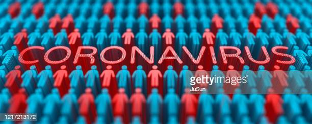 coronavirus and people. pandemic covid-19, disease statistics, population damage, pandemic spreading in the world and infecting people. - infectious disease imagens e fotografias de stock