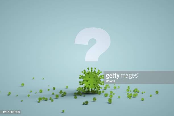coronavirus and question mark,3d render - immunsystem bildbanksfoton och bilder