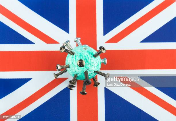 coronavirus covid-19 and british flag - antiseptic wipe stock pictures, royalty-free photos & images