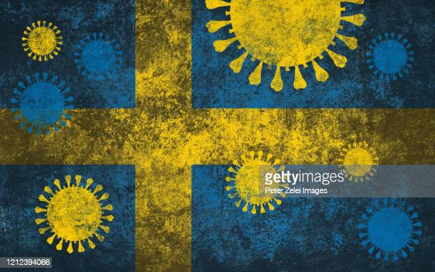 coronavirus covid-19 and swedish korean flag - sweden stock pictures, royalty-free photos & images