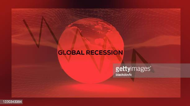coronavirus covid-19 economic recession concept background - graphic accident photos stock pictures, royalty-free photos & images