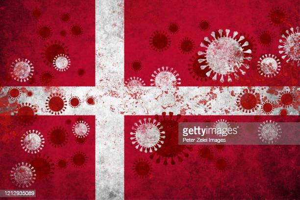 coronavirus covid-19 in danish colors - denmark stock pictures, royalty-free photos & images