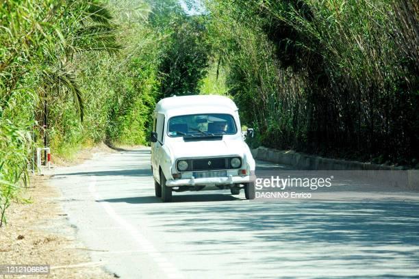 Coronavirus crisis SaintTropez confined Brigitte Bardot driving her Renault 4L car on April 25 2020