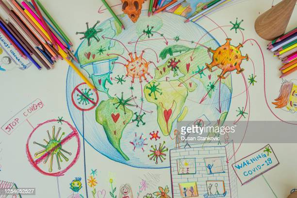 coronavirus drawing - dusan stankovic stock pictures, royalty-free photos & images