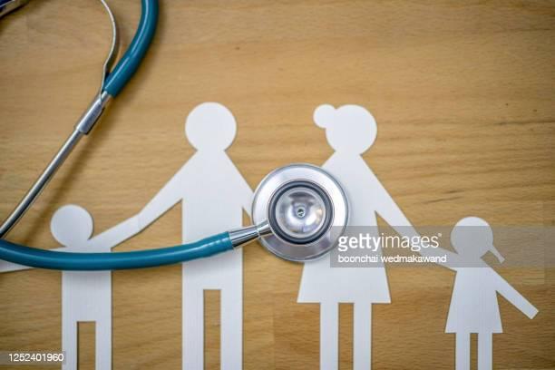 coronavirus global epidemic medical insurance healthcare family finance - événement caritatif photos et images de collection