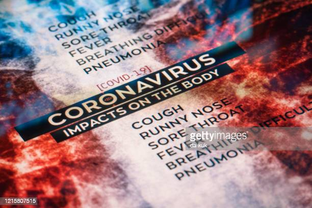covid-19 coronavirus impacts on the body - bubonic plague stock pictures, royalty-free photos & images