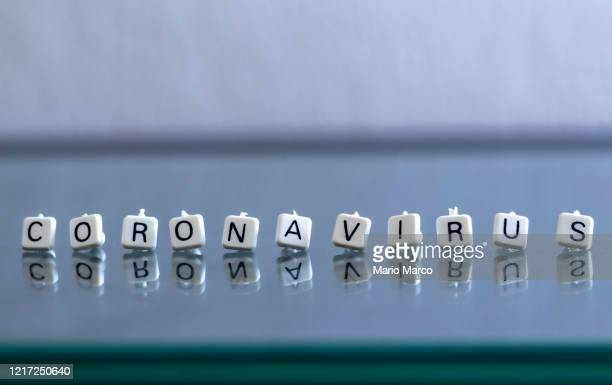 coronavirus of letters - single word stock pictures, royalty-free photos & images