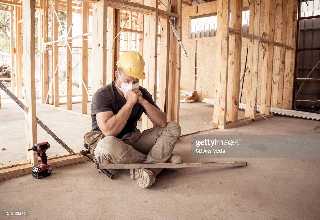 Coronavirus Outbreak Global economic Recession. Small business owner affected by the coronavirus outbreak. Freelance contractor being impact by COVID 19 with loss of money, employees and no supplies. : Stock Photo