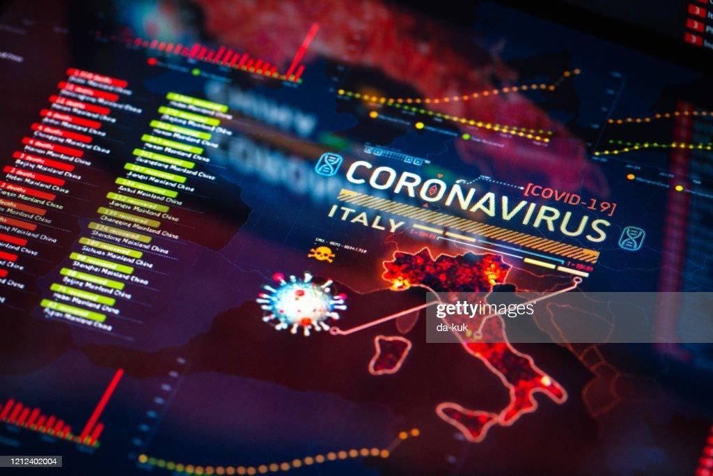 Coronavirus-Ausbruch in Italien : Stock-Foto