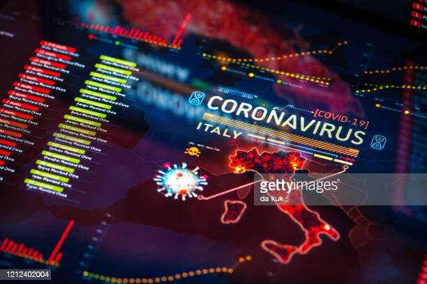 coronavirus outbreak in italy - italy stock pictures, royalty-free photos & images