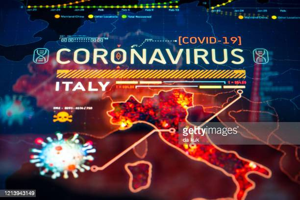 coronavirus outbreak in italy - italy coronavirus stock pictures, royalty-free photos & images