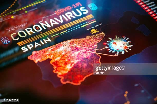 coronavirus outbreak in spain - spain stock pictures, royalty-free photos & images