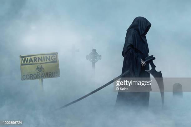 coronavirus - grim reaper stock pictures, royalty-free photos & images
