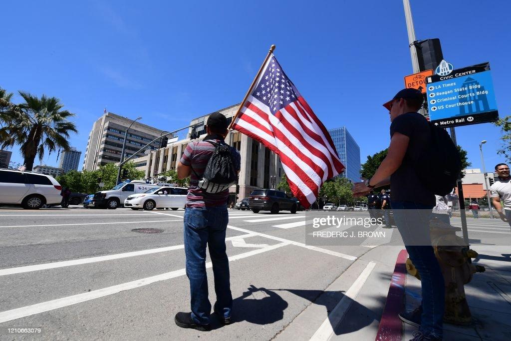 US-ECONOMY-HEALTH-VIRUS-PROTEST : News Photo