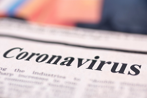 Coronavirus written newspaper 1208678891