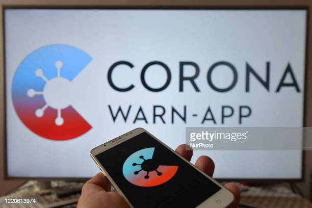 CoronaWarnApp photo illustration Germany launched a new coronavirus tracking app Corona Warn App alerts users when they have been in contact with...