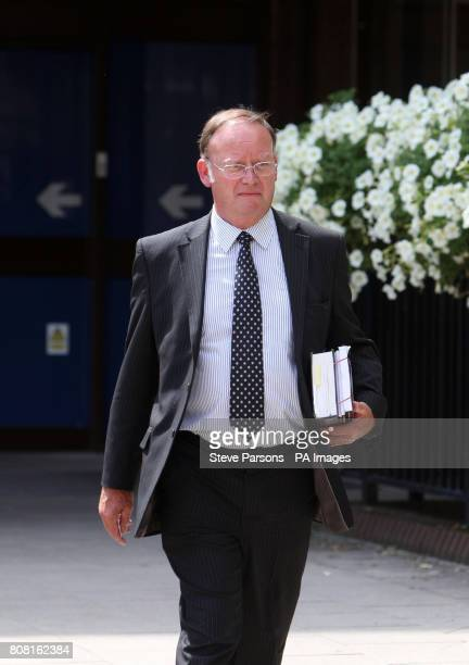 Coroner Andrew Bradley leaves Basingstoke and Deane Borough Council Civic Office, after the inquest into the death of Lieutenant Paul Mervis from C...
