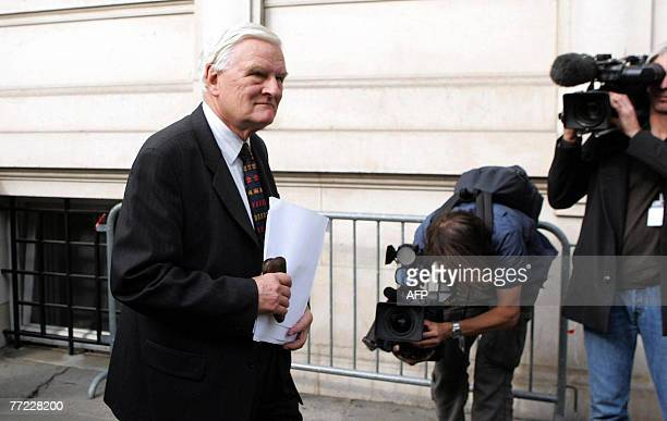 Coroner Lord Justice Scott Baker who is presiding over the inquest into the deaths of Diana Princess of Wales and Dodi AlFayed joins 08 October 2007...