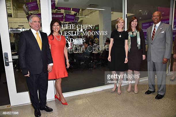 Corp Chairman CEO Leslie Moonves TV host Julie Chen Willow Bay Director of Annenberg School for Journalism Sarah BanetWeiser Director of Annenberg...