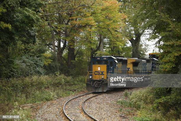 Corp freight train backs into a train yard in Louisville Kentucky US on Sunday Oct 15 2017 CSX is scheduled to release earnings figures on Oct 17...