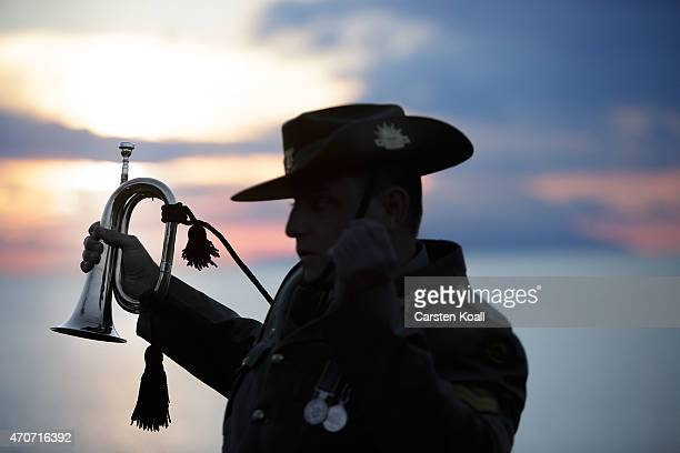 Corporal Andrew Barnett of the Australian Army Band who will play the bugle at the upcoming Dawn Service commemoration ceremony to honour Australian...