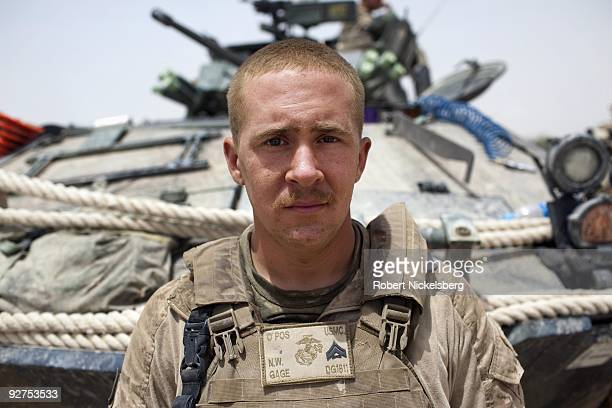 QAL'EHYENAW AFGHANISTAN AUGUST 16 Corporal Nathaniel Gage 23 years from Eagle River Alaska has served in the US Marine Corps 2nd Division 2nd Light...