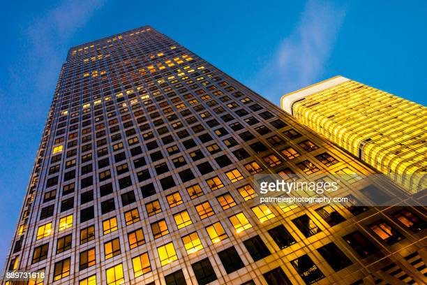 Corporate building in golden light