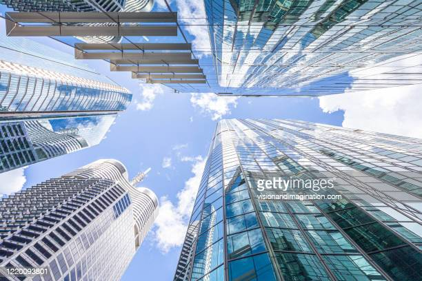 corporate buildings - looking up - looking up stock pictures, royalty-free photos & images