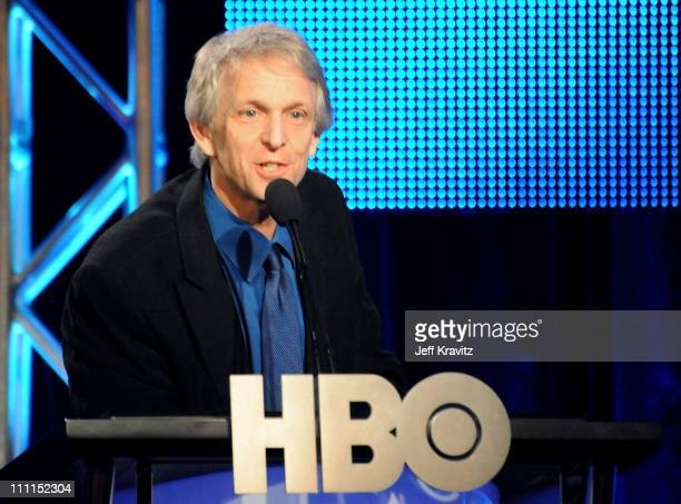 Corporate communications executive vice president Quentin Schaffer speaks during the HBO portion of the 2010 Television Critics Association Press...