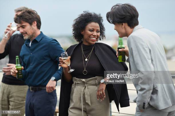 corporate co-workers having drinks after meeting - men friends beer outside stock pictures, royalty-free photos & images